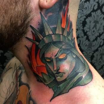 Tatuaje De La Estatua De La Libertad Tatuajesxd