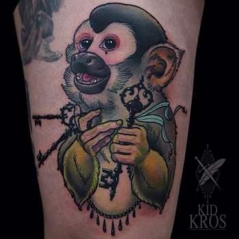 Tatuaje Mono Tití