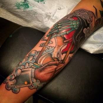 Tatuaje De Vida Contra Muerte Tatuajesxd