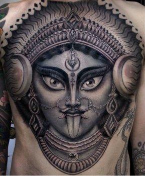 Tatuaje diosa Kali