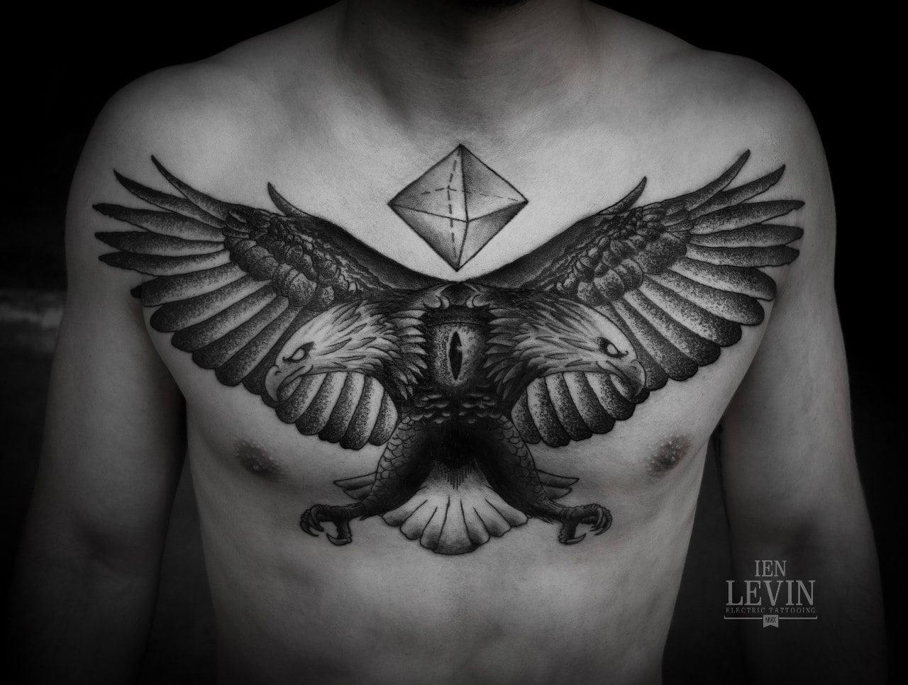 Aguila En La Espalda tatuaje de águila bicéfala - tatuajesxd
