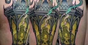 Tatuaje farola antigua