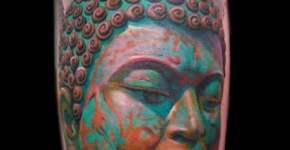 Tatuaje Buda verde
