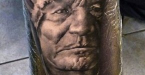 Tatuaje anciano jefe indio