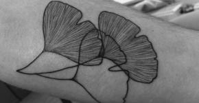 Tatuaje hojas de ginkgo
