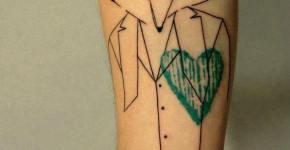Tatuaje zorro con traje
