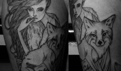 Tatuaje ninfa del bosque