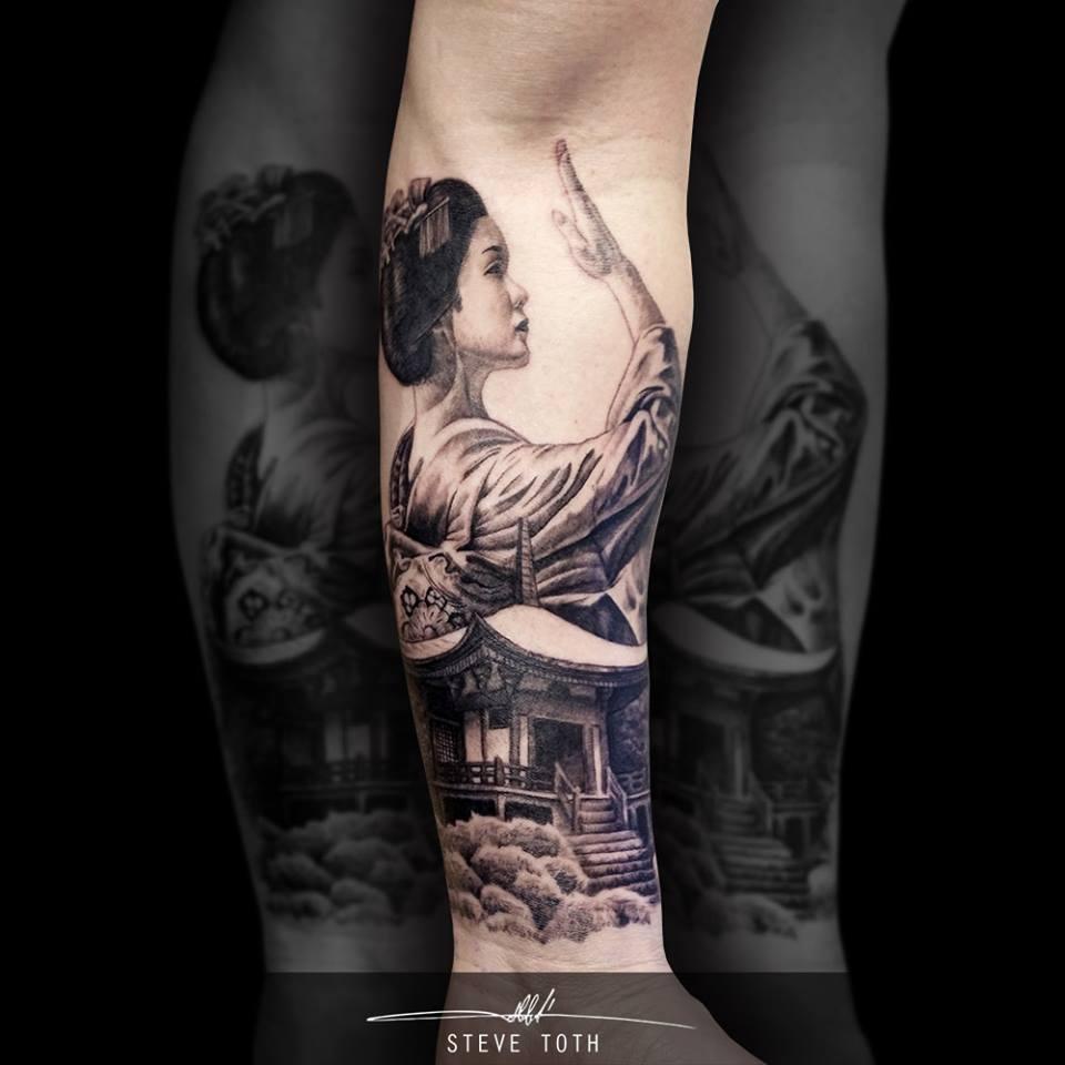 Tatuaje De Geisha En El Brazo Tatuajesxd
