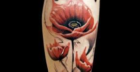Tatuaje amapolas