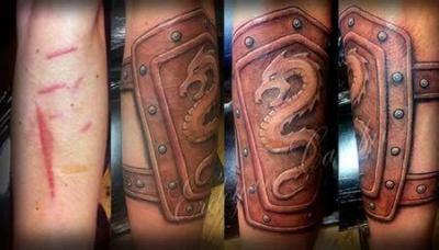 Tatuaje muñequera dragón