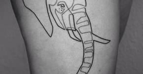 Minimalistic elephant tattoo