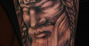 retrato de vikingo tatuaje