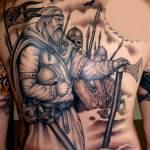 soldados vikingos tatuajes