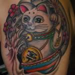 tatuaje gato chino