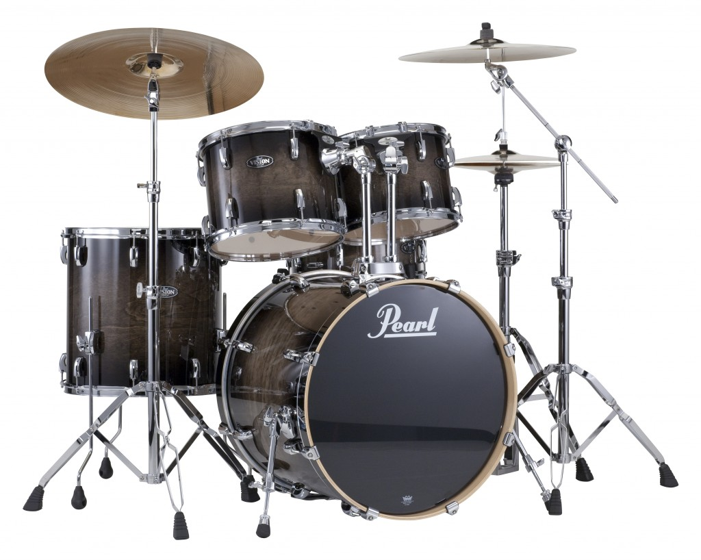 Pearl Drum Sets     Tatum Music Co  Pearl Vision Blackburst