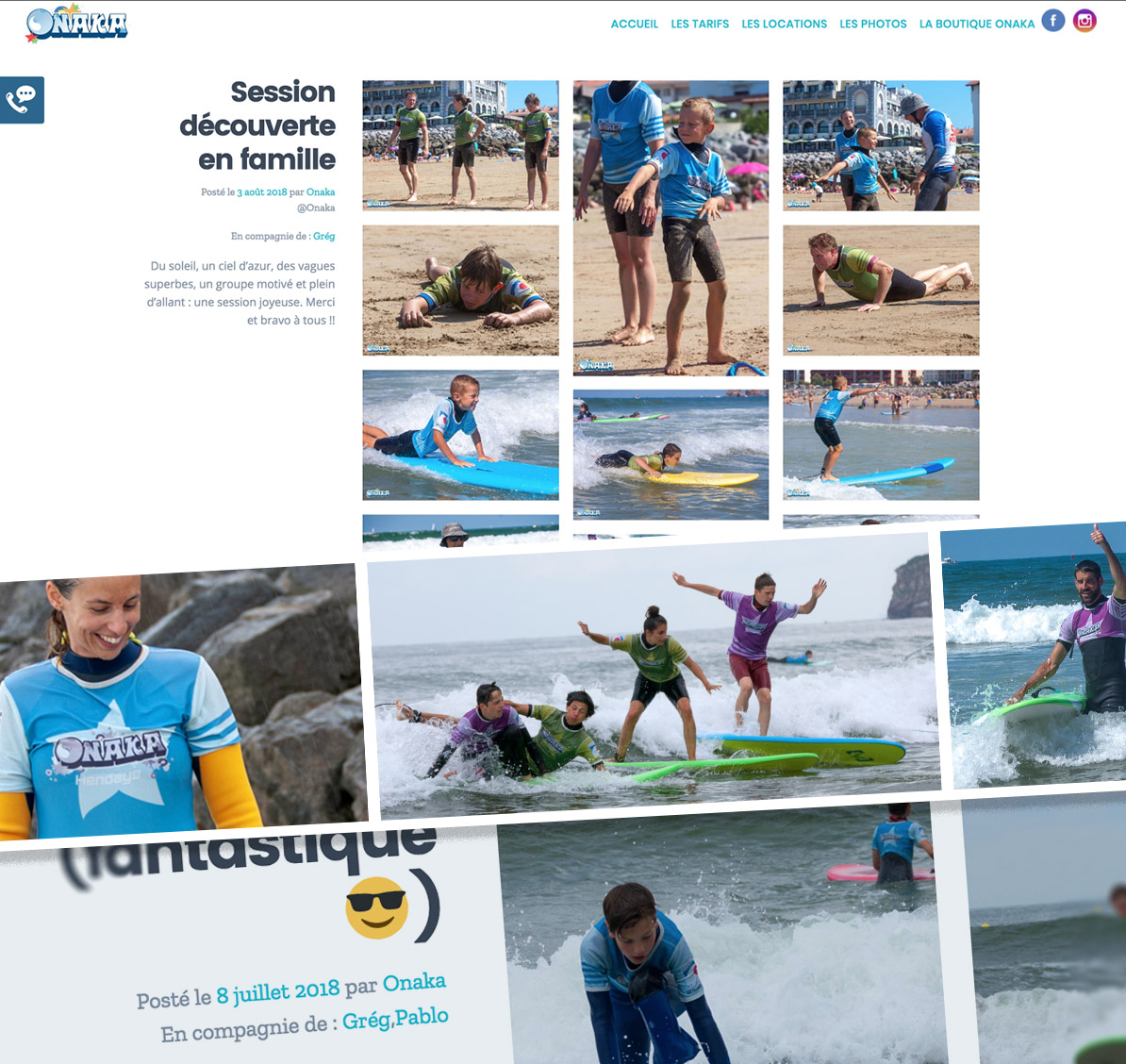 Charlotte Casters Tatziki - Onaka cours surf photos