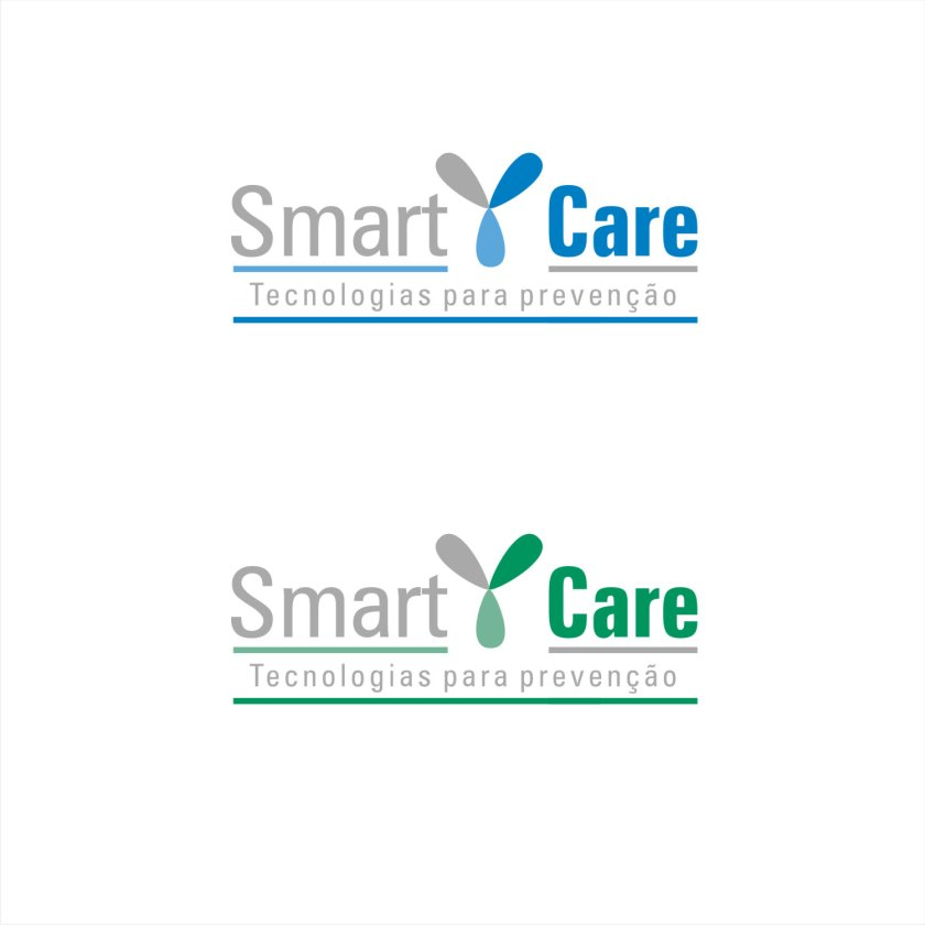 Logotipo SmartCare loja prevenção Covid19 versão é um novo caminho. Sintetizei em cima do símbolo de anticorpo, que tem essa foram de Y