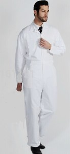 White 1 piece Boiler Suit Overalls