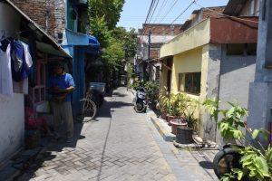 Verlassene Gasse in Surabaya