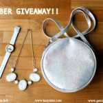 October International #Giveaway! (H&M Sling Bag, Mustache Watch & Sparkly Necklace)