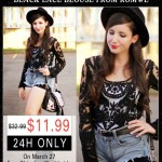 Romwe Black Lace Blouse #Giveaway