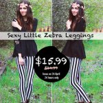 Sexy Little Zebra Leggings International #Giveaway
