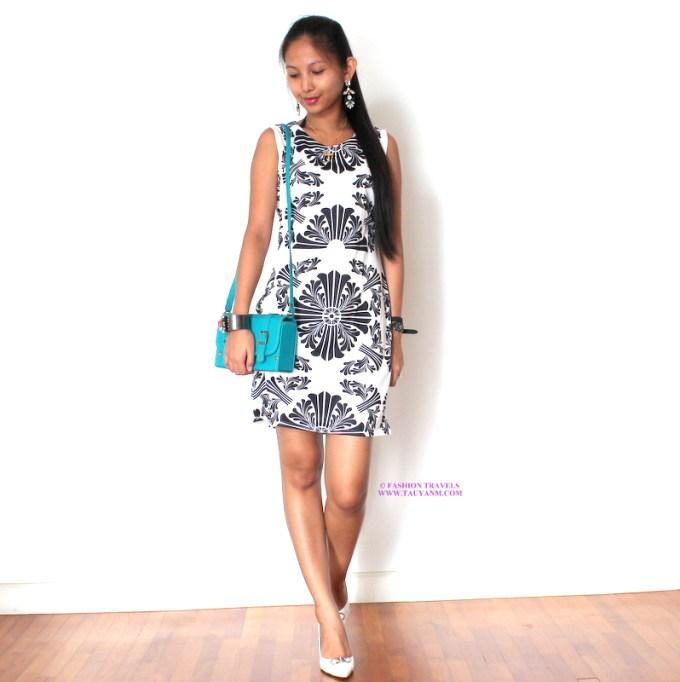 ootd, malaysia fashion blogger, malaysia lifestyle blogger, malaysia blogger, fashion travels, tauyanm, oasap, jacquard dress,