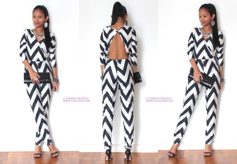 e22b63c4d785 OOTD  Chevron Jumpsuit - Jane Fashion Travels