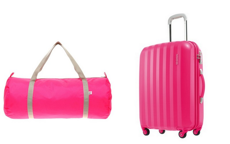 luggages, pink, must-have, travel essentials