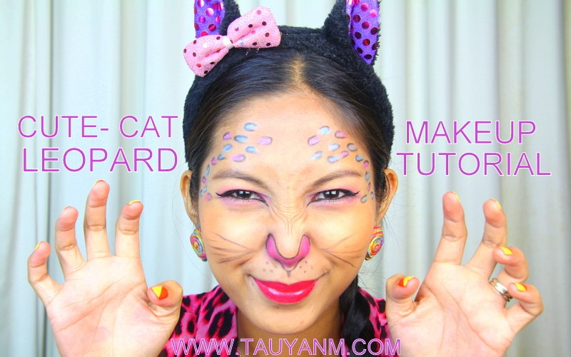 cat leopard makeup tutorial for beginner