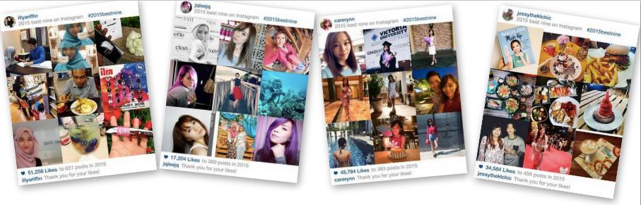 how to get your #2015bestnine on instagram