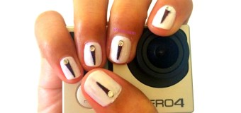 How To: Easy White Nails with Diamonds Nail Art DIY For Beginners (Photos+Video)
