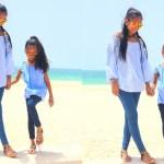 #OOTD: Beach Blue at Burj Al Arab #summer #motherdaughter