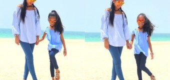#OOTD: Beach Blue at Burj Al Arab #summer #motherdaughter