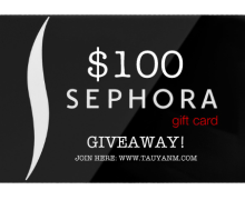 #Giveaway: Win a $100 Gift Card From Sephora! Open International