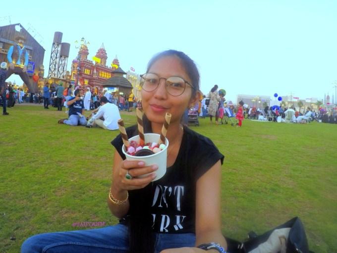 global village, ice cream rolls, dubaiblogger