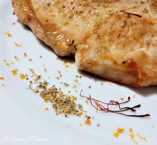 senzapanna-ricetta-maiale-arancia-zafferano
