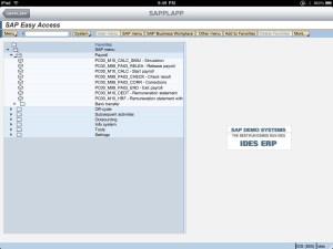 SAP Menu