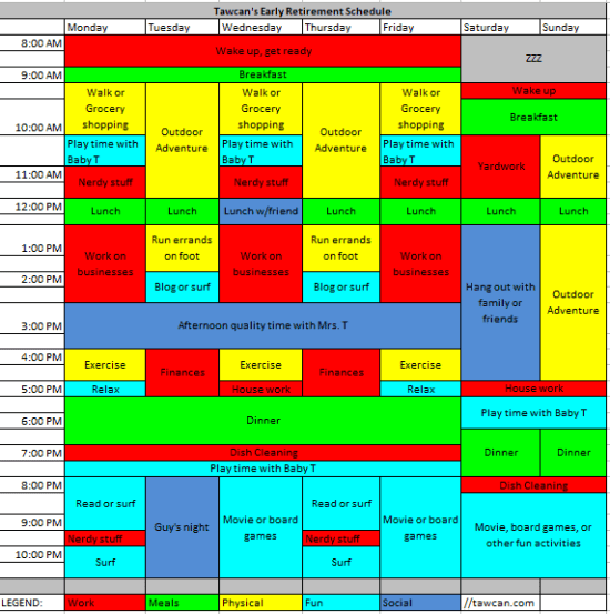 early retirement schedule tawcan