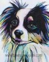 Bandit, Watercolor Painting, Watercolor Animal, Dog Art, Dog Painting, Abstract Dog Art, Watercolor Ink