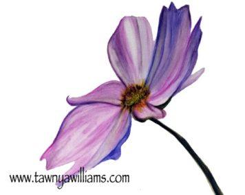 Purple flower watermark