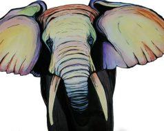 Watercolor Elephant, Elephant Painting, Tawnya Williams Art