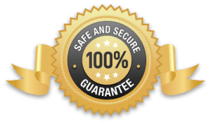Safe and secure 100% Guarantee Badge