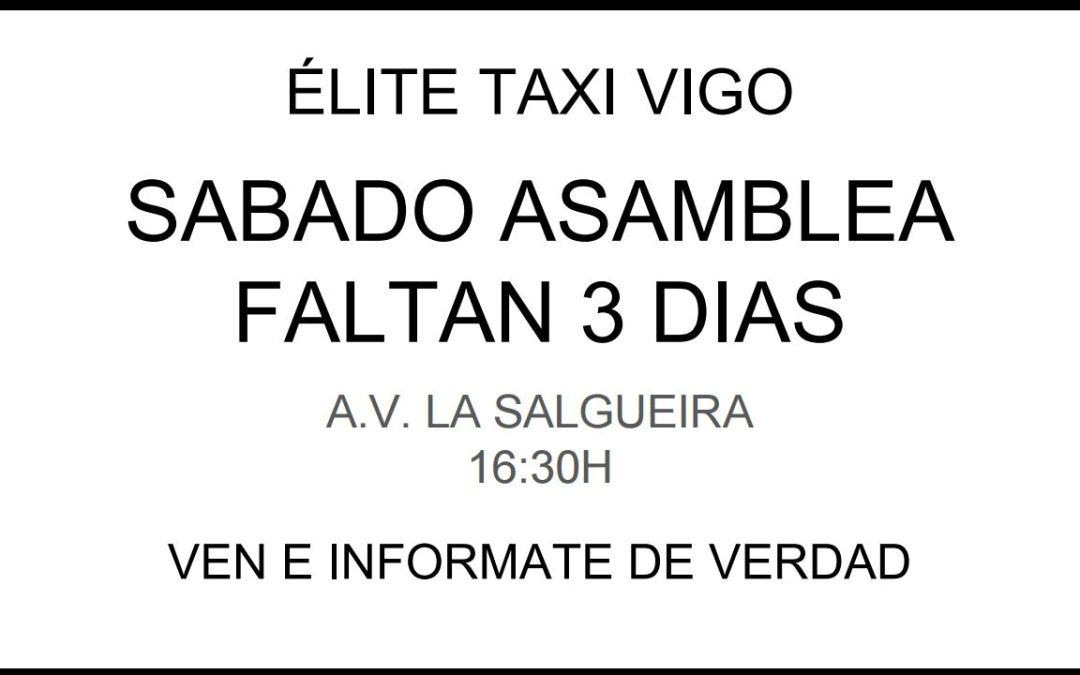 Asamblea de Elite Taxi Vigo