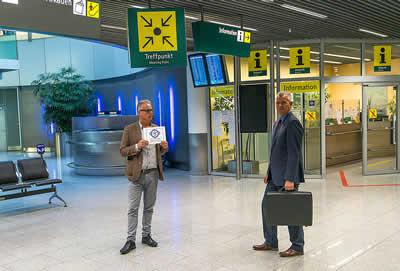 Meetingpoint ophalen en brengen vliegveld