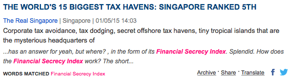 Singapore tax haven