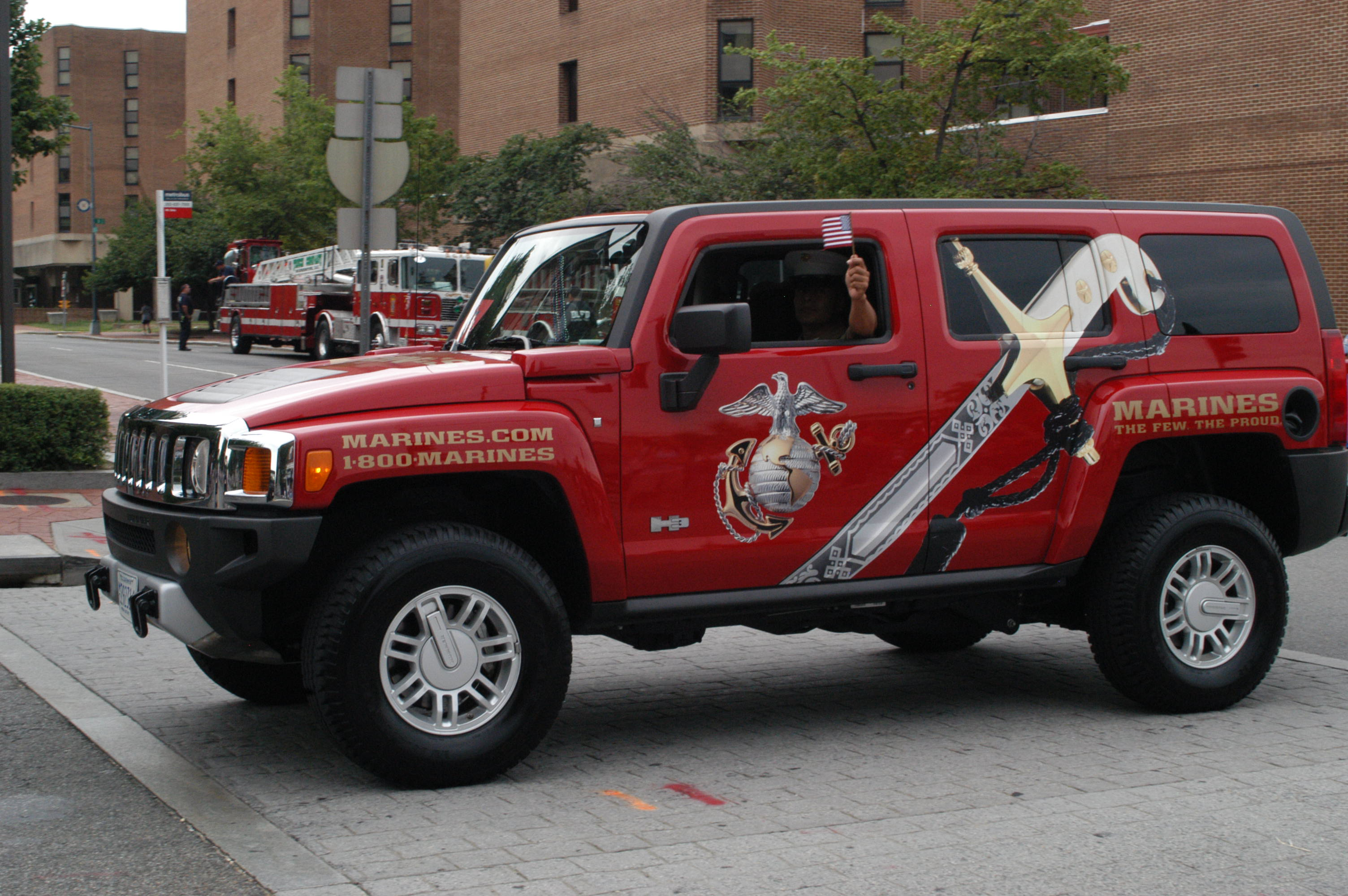 Marines Advertising on Hummers
