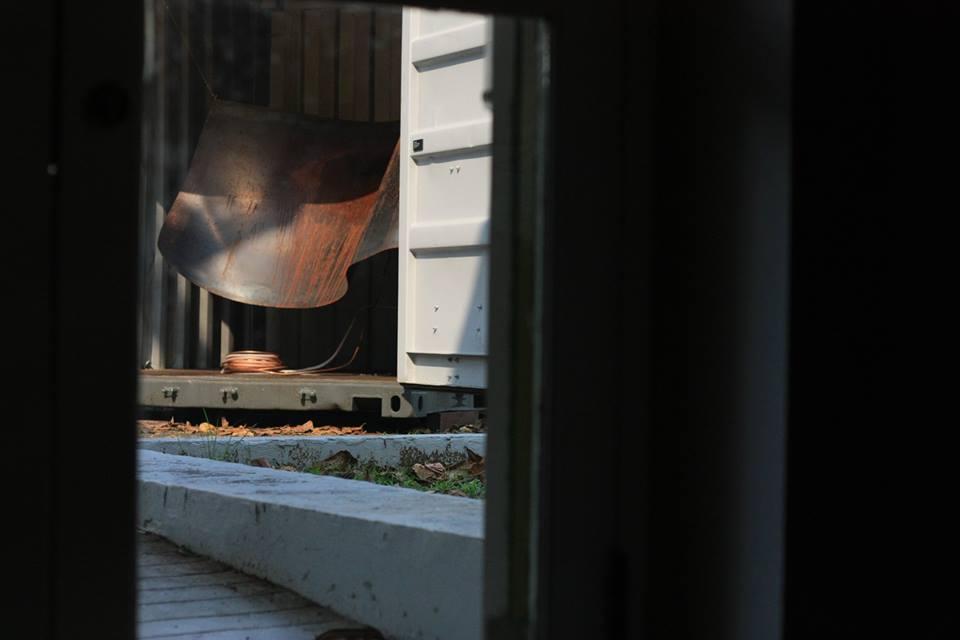 Bare Steel, Snow Blanket, Mild Steel and Refrigeration System, 2015.