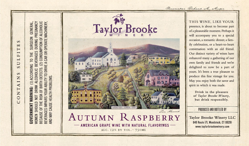 Autumn Raspberry label