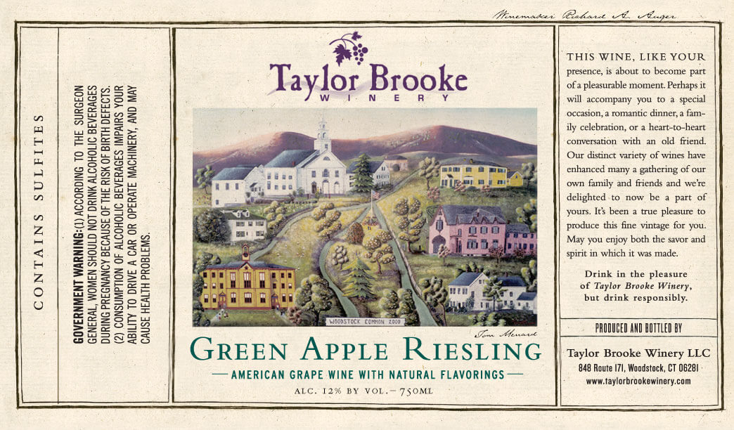Green Apple Riesling label